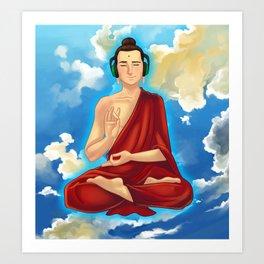Adeptu Buddah Art Print