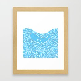 Whale and Waves Framed Art Print