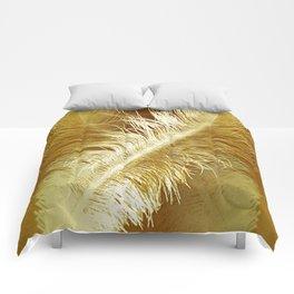 Golden Ostrich Comforters