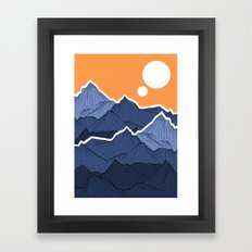 The mountains under the two suns Framed Art Print