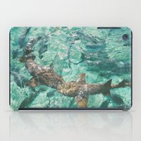 sharks iPad Cases featuring Sharks by Chelle Wootten