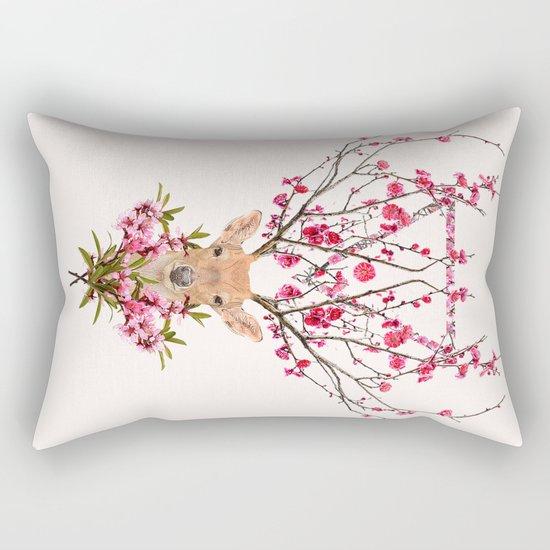 Spring Deer Rectangular Pillow