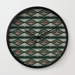 Kachina Eagle Diamond Coordinate Wall Clock