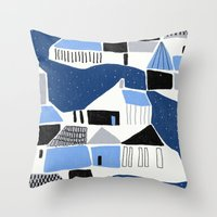 iceland Throw Pillows featuring iceland by frameless