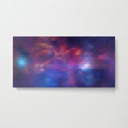 Pixelized Galaxy Metal Print