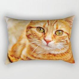Cute red cat Rectangular Pillow