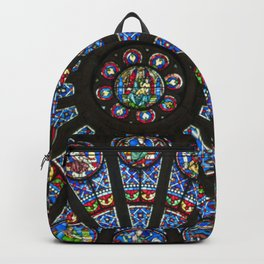 STAINED GLASS Notre Dame Cathedral Paris France Backpack