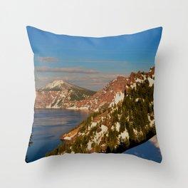 Crater Lake - Spring II Throw Pillow