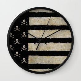 Skulled & Striped Wall Clock