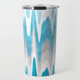 Sky Blue Abstract Travel Mug