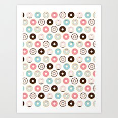 Super Sweet Donuts Art Print