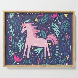 Cute unicorn print Serving Tray