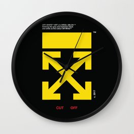 Virgil Abloh Off White Arrows Hypebeast Fanmade Artwork Wall Clock