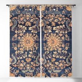 Sarouk Persian Floral Rug Print Blackout Curtain