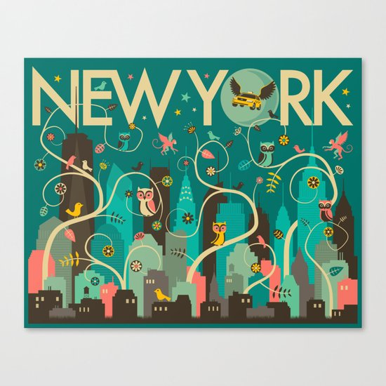 WILD NEW YORK Canvas Print