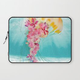 Jellyfish with Flowers Laptop Sleeve