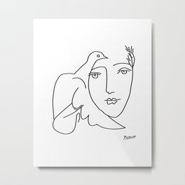 Picasso - Dove and Girl Metal Print