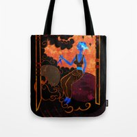 astronomy Tote Bags featuring Muse of Astronomy  by Anthony Akanbi
