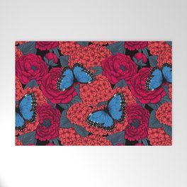 Blue morpho Welcome Mat