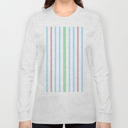 Blue Green Stripes Long Sleeve T-shirt