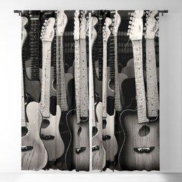 Vintage retro guitars Blackout Curtain