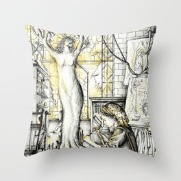 Sculptress Throw Pillow