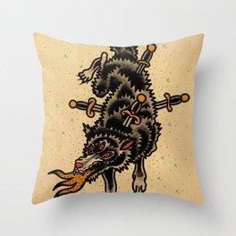 Rd.wolf Throw Pillow