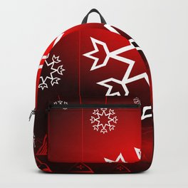 Xmas Snowflake with Red tipi Backpack