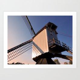 1745 Windmill sundown Art Print