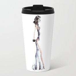 Lady - Watercolors and Ink Travel Mug
