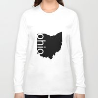 ohio state Long Sleeve T-shirts featuring Ohio by Isabel Moreno-Garcia