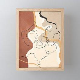 Developed Faces 01 Framed Mini Art Print