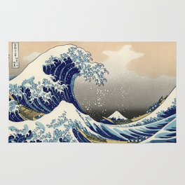 "Katsushika Hokusai ""The Great Wave off Kanagawa"" Rug"
