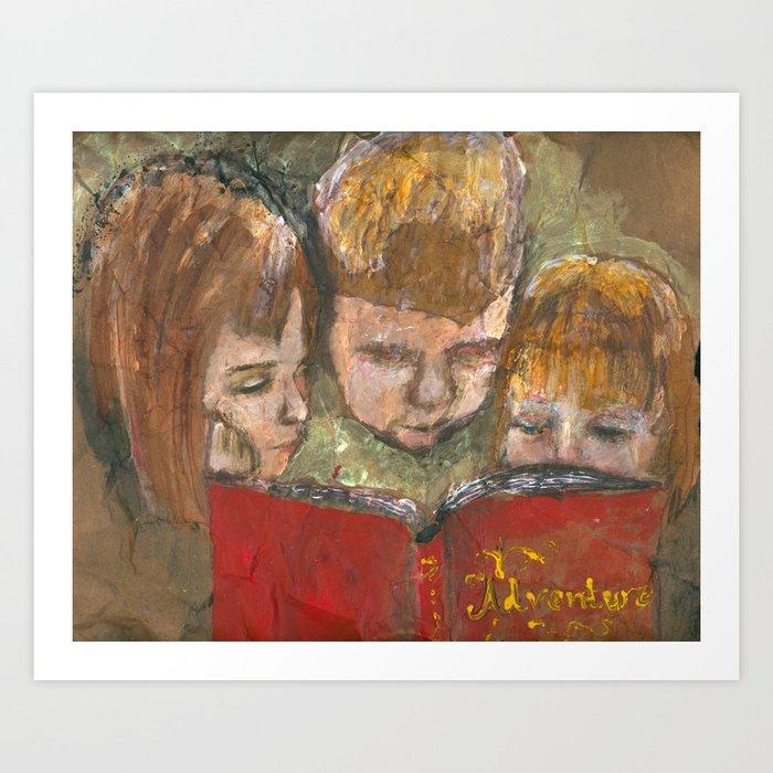 Reading is an Adventure Art Print