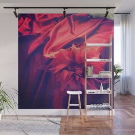 Red Drape and Petale Wall Mural