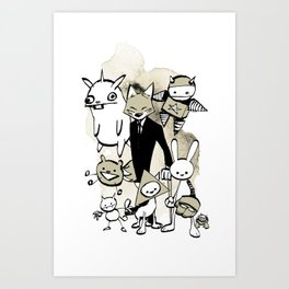 minima - dapper fox Art Print