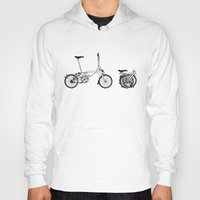 brompton Hoodies featuring Brompton Bicycle by Wyatt Design