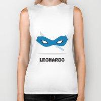 leonardo Biker Tanks featuring Leonardo by DSCDESIGNS