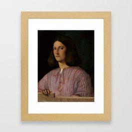 "Giorgione ""Portrait of a Young Man ('Giustiniani Portrait')"" Framed Art Print"