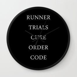 Maze Runner Titles Wall Clock