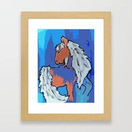 Beach; horse Framed Art Print
