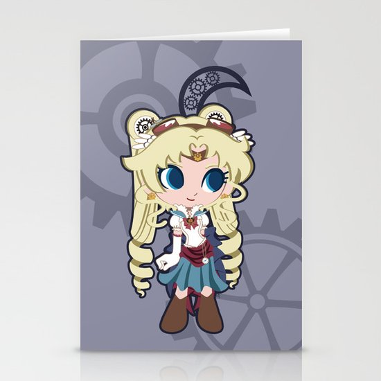 Steampunk Sailor Moon Stationery Cards