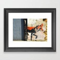 Sneaky Little Fox Framed Art Print