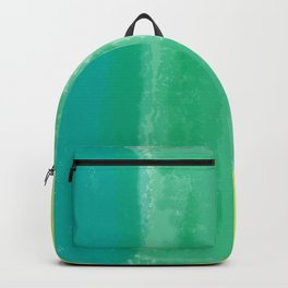 Bluish Blues 4 - Teal, Light Blues, Yellow Backpack