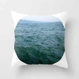 Nautical Porthole Study No.1 Throw Pillow
