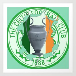 Celtic 1967 Irish tricolour Art Print