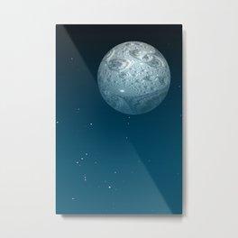 Fractal Moon Metal Print
