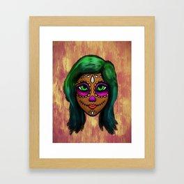 Sugar Skull Sweetie Framed Art Print