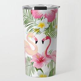 Pink Flamingo Travel Mug