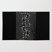 joy division Area & Throw Rugs featuring Nurse Joy Division by Tobe Fonseca